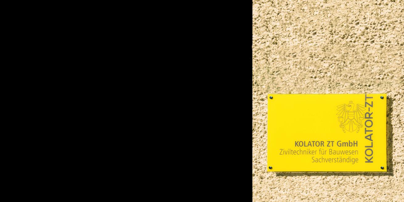 Kolator ZT GmbH Büro Eingang